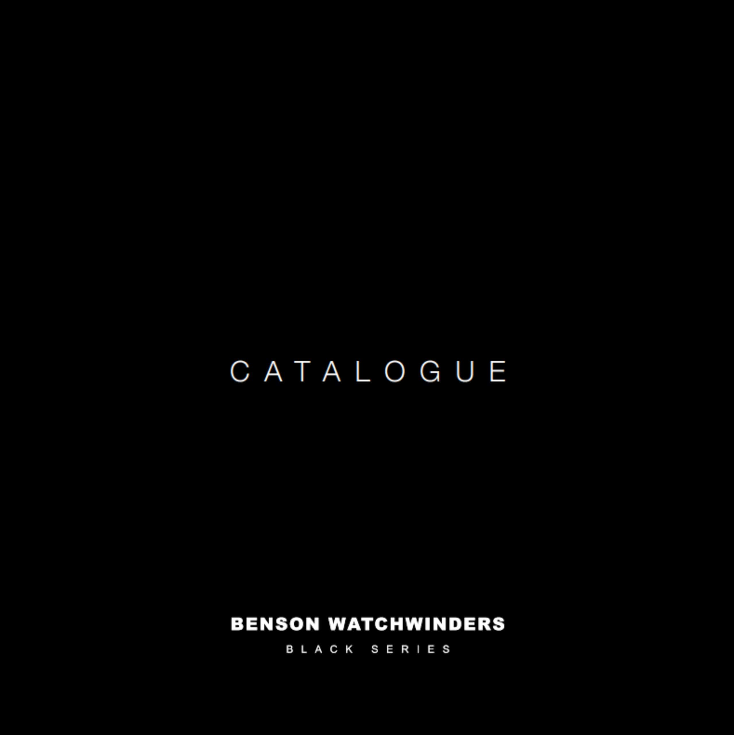 Benson_Black_Series_Catalogue_Cover